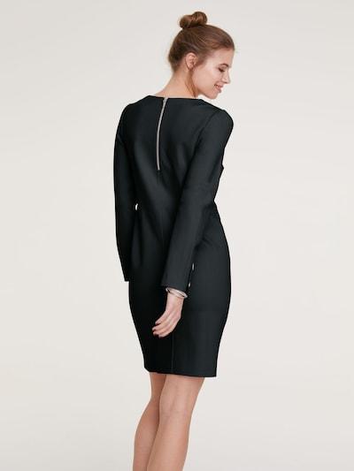 Trumpa kokteilinė suknelė iš heine , spalva - juoda: Vaizdas iš galinės pusės