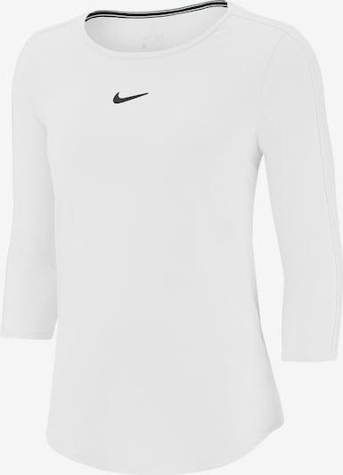 NIKE Tennisshirt in schwarz / weiß: Frontalansicht