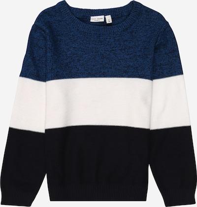 NAME IT Pullover 'VOHAN' in blaumeliert / schwarz / weiß, Produktansicht