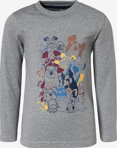 MINYMO Shirt in blau / navy / gelb / grau / weinrot, Produktansicht