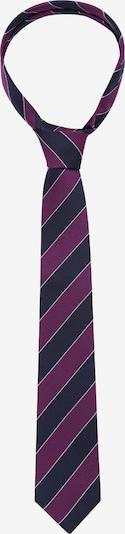 SEIDENSTICKER Krawatte 'Schwarze Rose' in nachtblau / beere, Produktansicht