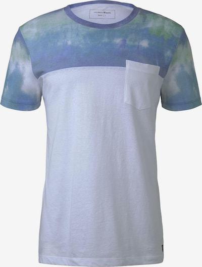 TOM TAILOR DENIM T-Shirt in hellblau / weiß, Produktansicht