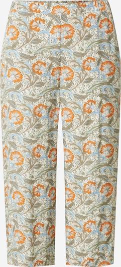 Soyaconcept Kalhoty 'GEMMA' - béžová / světlemodrá / khaki / oranžová: Pohled zepředu
