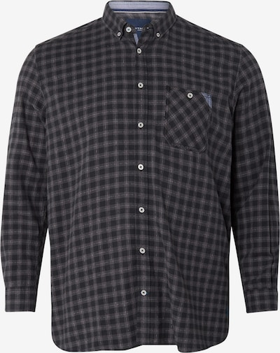 TOM TAILOR Men Plus Kariertes Hemd in schwarz, Produktansicht