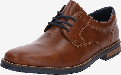 Pantofi cu șireturi RIEKER pe albastru / coniac, Vizualizare produs