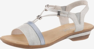 RIEKER Sandalette in hellblau / silbergrau, Produktansicht