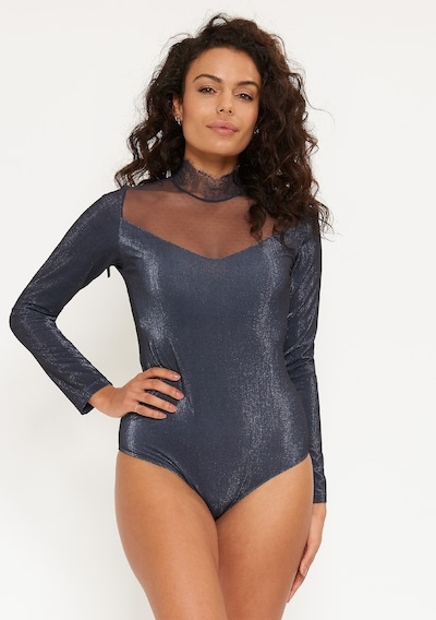 LingaDore Body 'SHIMMER' in blau: Frontalansicht