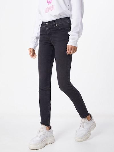 DIESEL Jeans 'D-ROISIN' in grey denim, Modelansicht