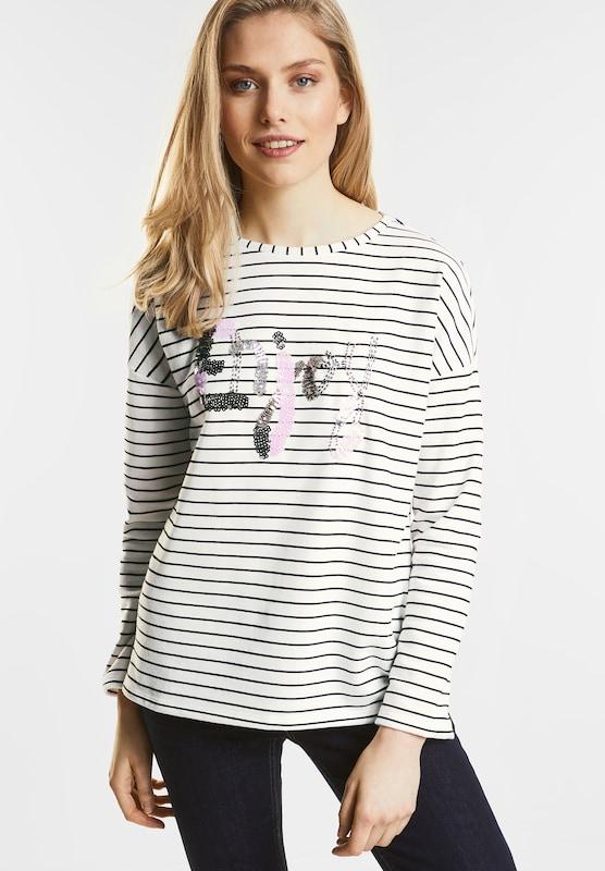 STREET ONE Streifen Wording Sweater