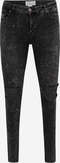 SikSilk Jeans 'Bust Knee Riot' in rot / black denim / weiß, Produktansicht