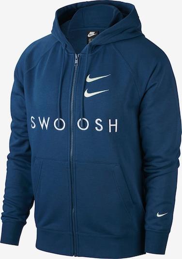 Nike Sportswear Sweatjacke in dunkelblau / weiß, Produktansicht