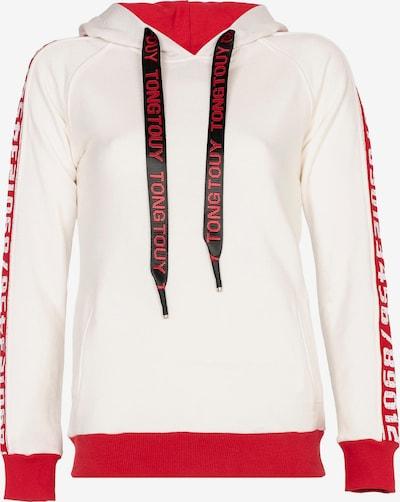 CIPO & BAXX Kapuzensweatshirt mit Markenlogo-Print in beige / rot, Produktansicht