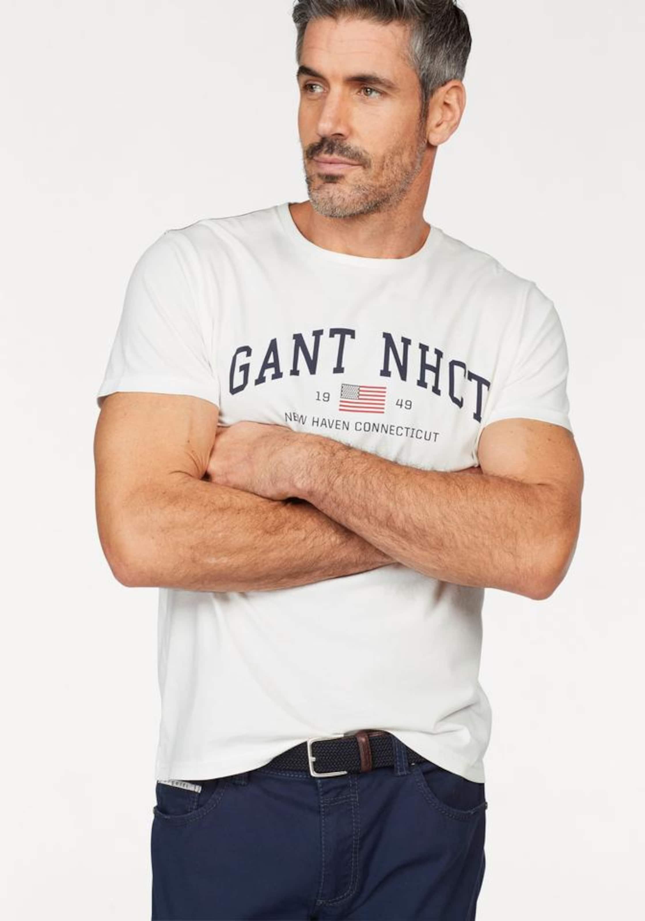 GANT T-Shirt mit Logo-Print 2018 Neue hM1rP59xE