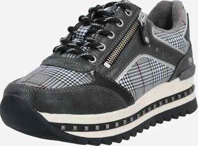 MUSTANG Sneaker in graphit / weiß, Produktansicht