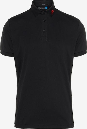 J.Lindeberg Poloshirt 'KV TX Jersey' in rot / schwarz, Produktansicht