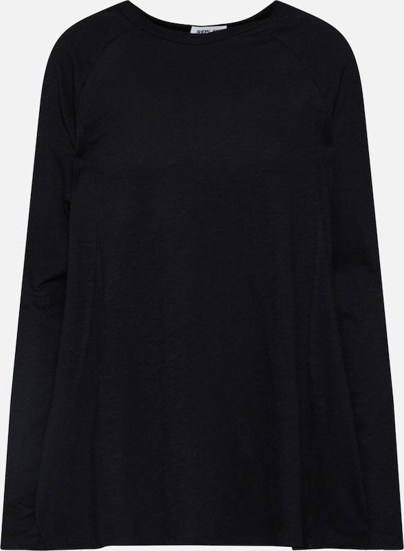 shirt shirt Noir Replay En Replay T T ZuTPkXiO
