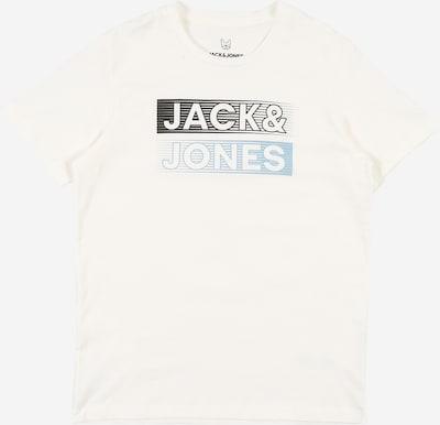 Jack & Jones Junior T-Shirt 'Booster' in hellblau / schwarz / weiß, Produktansicht