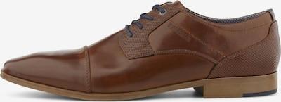 TOM TAILOR Shoes Schnürschuh aus Lederimitat in braun, Produktansicht