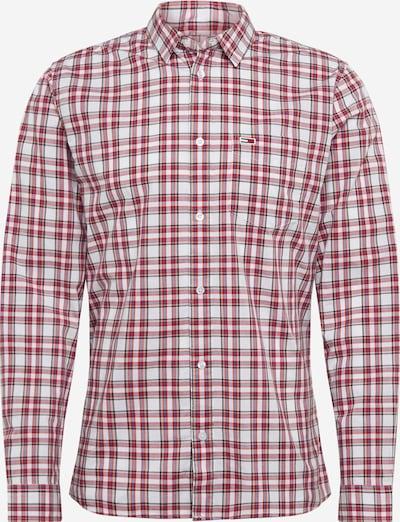 Tommy Jeans Biroja krekls 'TJM ESSENTIAL CHECK POCKET SHIRT' pieejami sarkans / balts, Preces skats