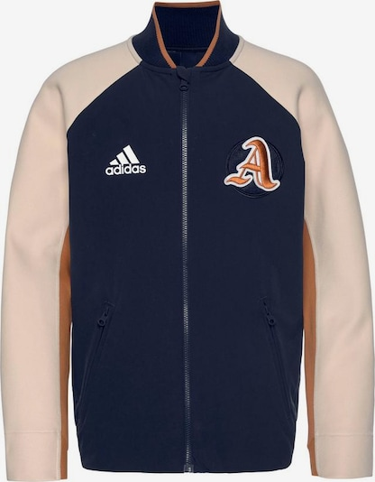 ADIDAS PERFORMANCE Collegejacke 'VRCT' in marine / cappuccino / hellbraun, Produktansicht