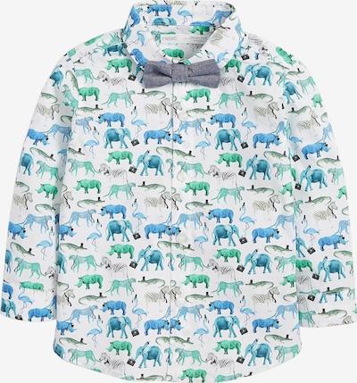 NEXT Langarmhemd in blau / grün, Produktansicht