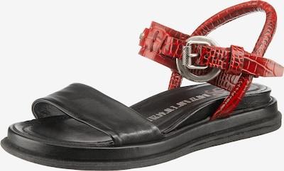 A.S.98 Sandale in rot / schwarz, Produktansicht