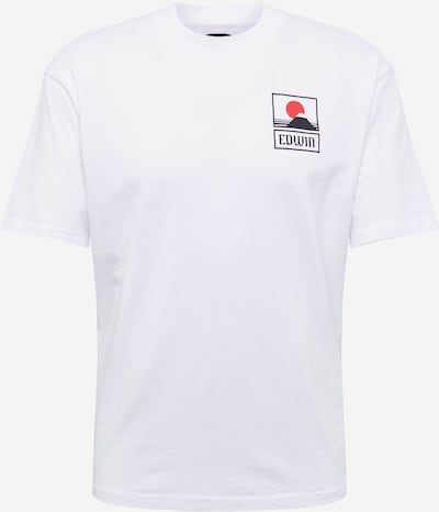 EDWIN Shirt 'Sunset On Mt Fuji TS' in White, Item view
