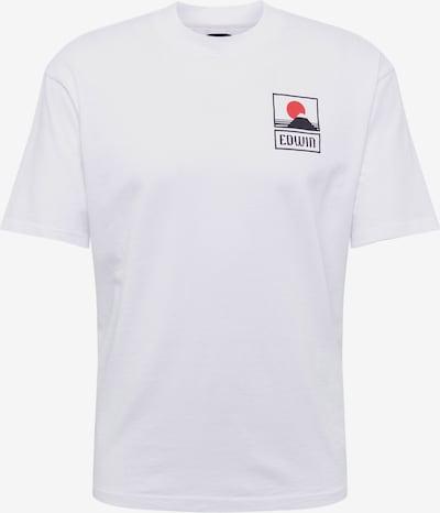 EDWIN Shirt 'Sunset On Mt Fuji TS' in de kleur Wit, Productweergave