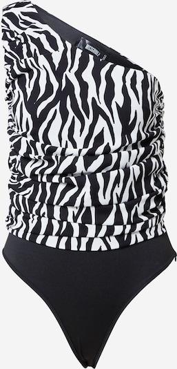 Missguided Blouse body in de kleur Zwart / Wit, Productweergave