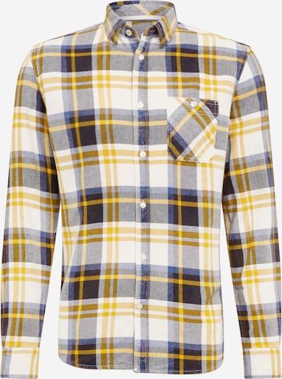 TOM TAILOR Hemd 'ray' in gelb / schwarz / wollweiß, Produktansicht