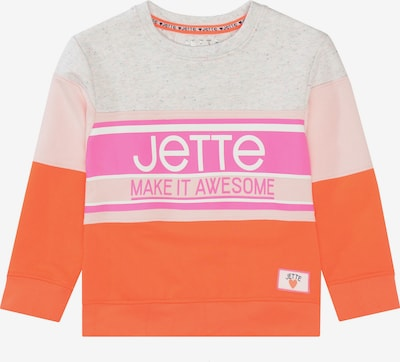 JETTE BY STACCATO Sweatshirt in graumeliert / orange / pink, Produktansicht