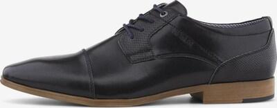 TOM TAILOR Shoes Schnürschuh aus Lederimitat in schwarz, Produktansicht