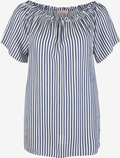 TRIANGLE Bluse in taubenblau / weiß, Produktansicht