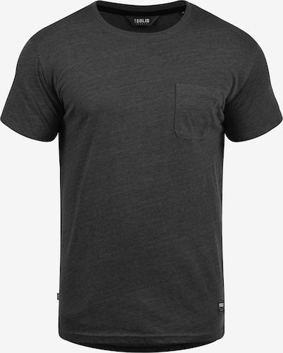 !Solid Rundhalsshirt 'Bob' in dunkelgrau, Produktansicht