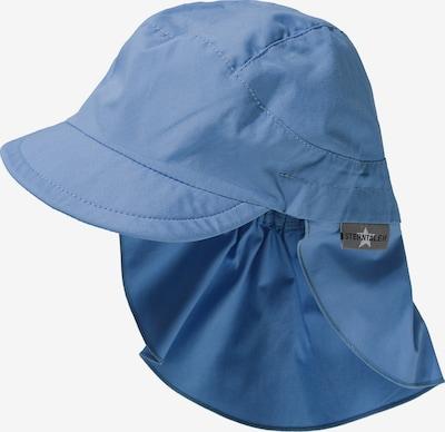 STERNTALER Schirmmütze mit Nacken- und UV-Schutz 50+ in blau: Frontalansicht