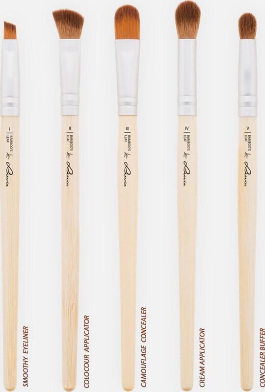 Luvia Cosmetics 'Bamboo's Leaf', Veganes Kosmetikpinsel-Set mit 8 Pinseln und Aufbewahrungstasche