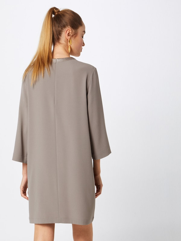 Robe K Dress' 'satin En Beige Foncé Crepe Filippa mNw80n