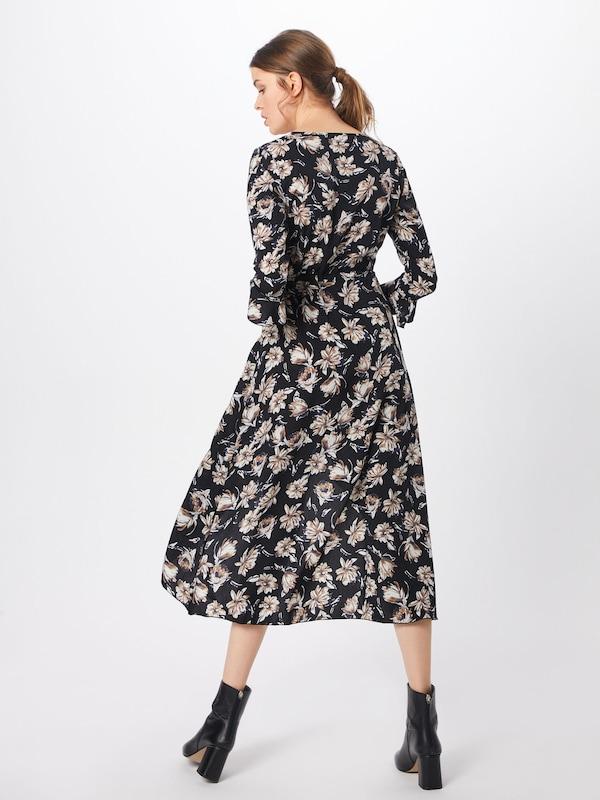 Zomerjurk 'floral Boohoo Maxi ZwartWit Dress' In Wrap cq4LS35RAj