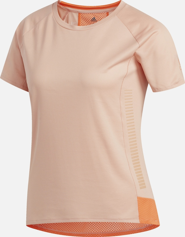 ADIDAS PERFORMANCE T-Shirt '5/7 Rise Up N Run Parley' in koralle / neonorange: Frontalansicht