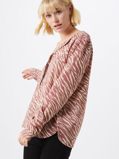 VERO MODA Bluse 'VMGRACE L/S TOP EXP' in braun / rosé, Modelansicht