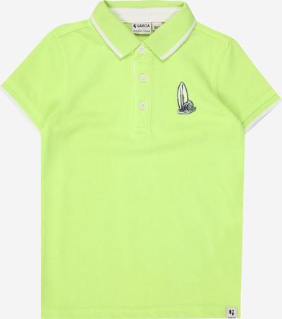GARCIA Shirt in neongrün / weiß, Produktansicht