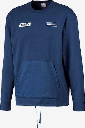 PUMA Pullover 'NU-TILITY Crew' in enzian / weiß, Produktansicht