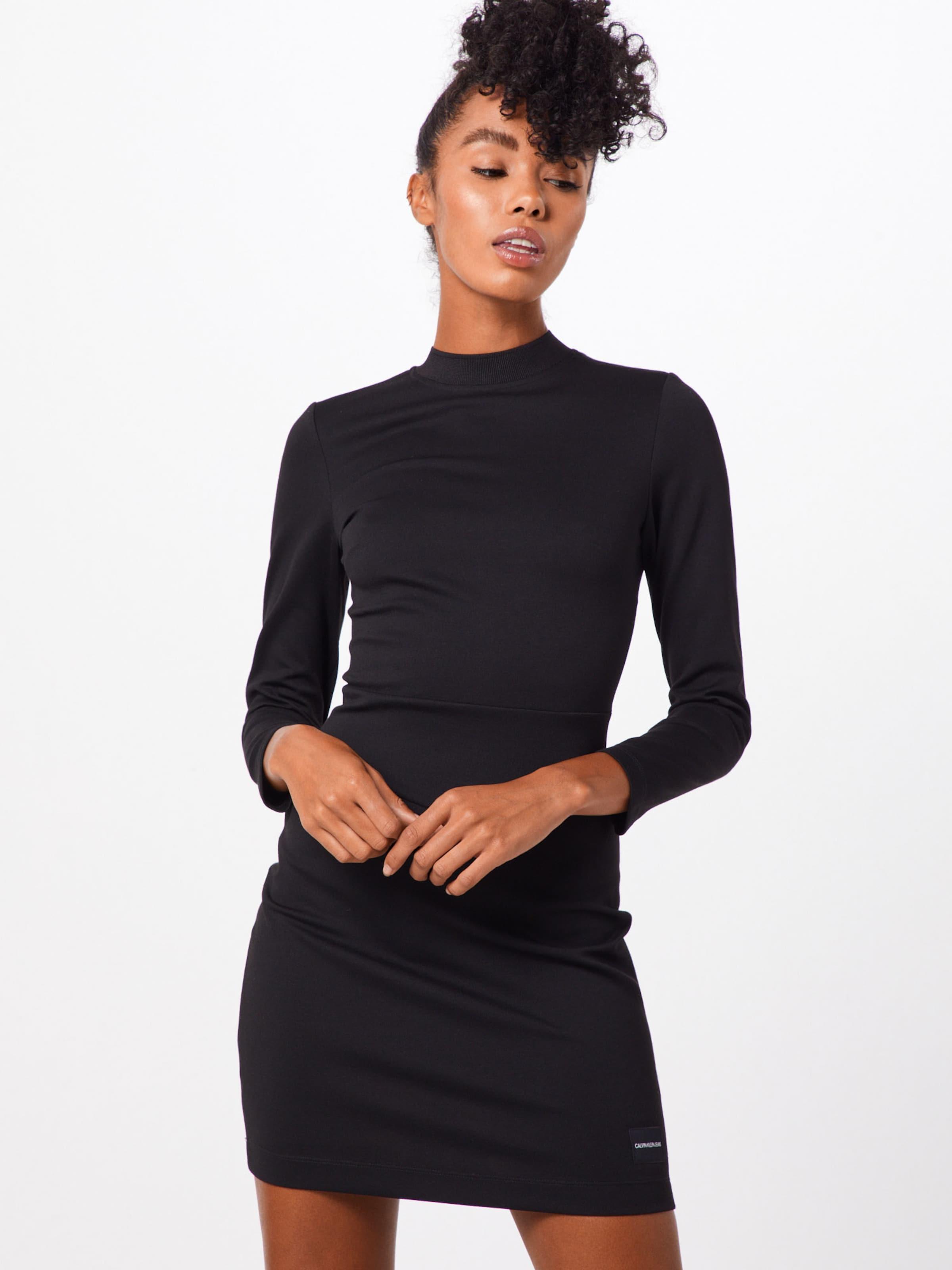 Milano' Schwarz Kleid 'fitted Calvin Klein In Jeans 8nwmN0