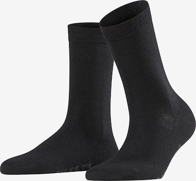 FALKE Chaussettes 'Softmerino' en noir, Vue avec produit