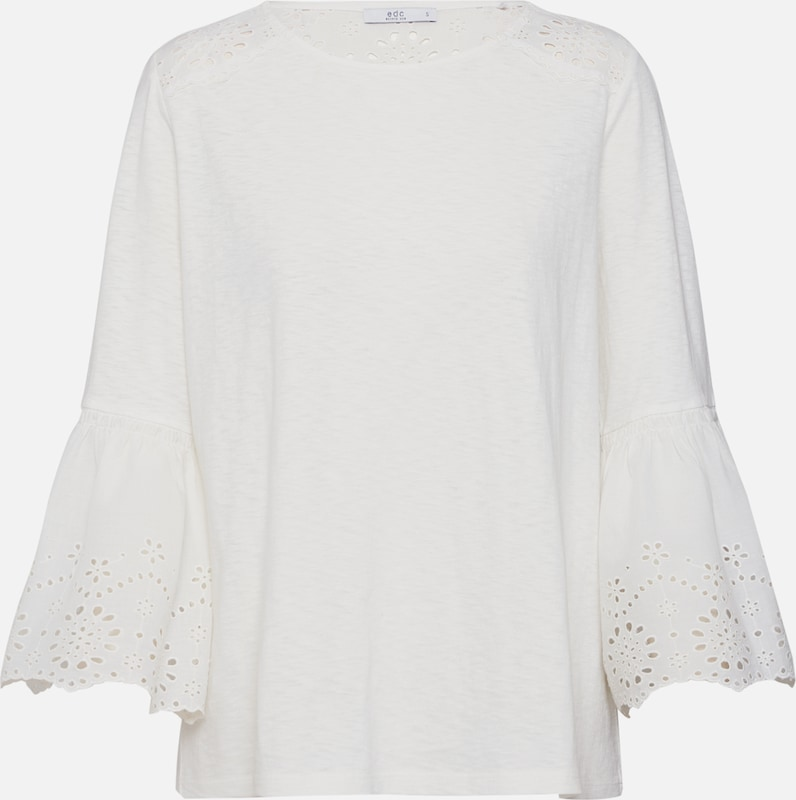 Blanc shirt 'broidery' Naturel Esprit Edc En By T A54LRj