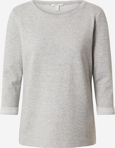 ESPRIT Koszulka 'Mel. T' w kolorze nakrapiany szary / białym, Podgląd produktu