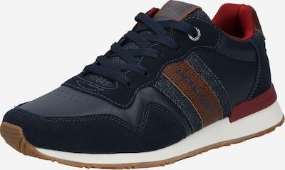 JACK & JONES Sneaker in navy / braun / dunkelrot, Produktansicht