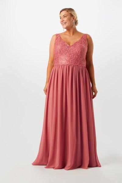 My Mascara Curves Abendkleid 'LACE V' in rosa, Modelansicht