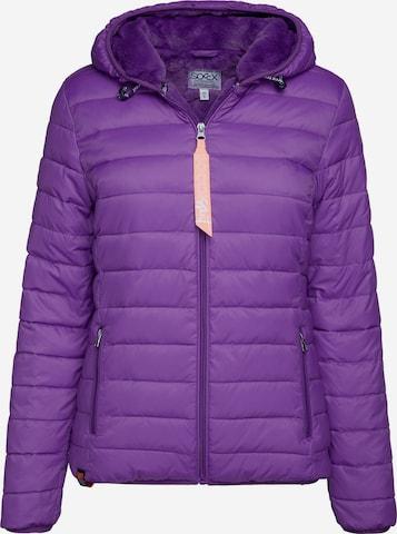 Soccx Between-Season Jacket in Purple