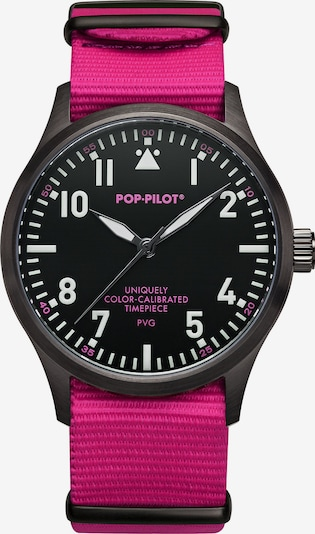 POP PILOT Uhr in neonpink / schwarz / weiß, Produktansicht